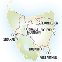 Evergreen Tours 12 Day Tasmanian Explorer Itinerary