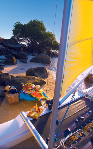 Find a part of the island to enjoy your gourmet picnic hamper